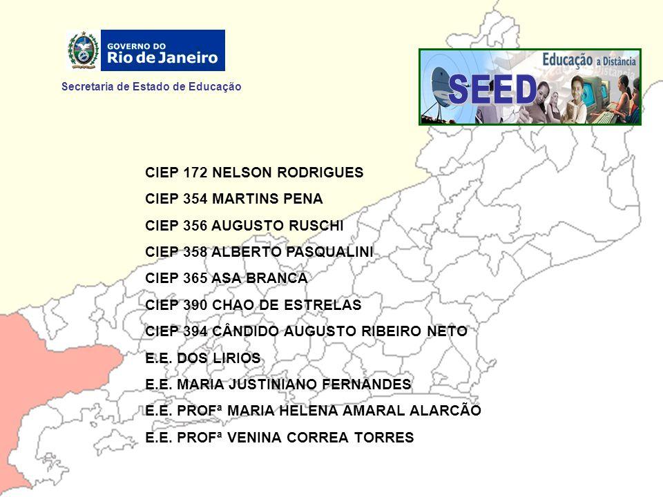 SEED Secretaria de Estado de Educação CIEP 172 NELSON RODRIGUES