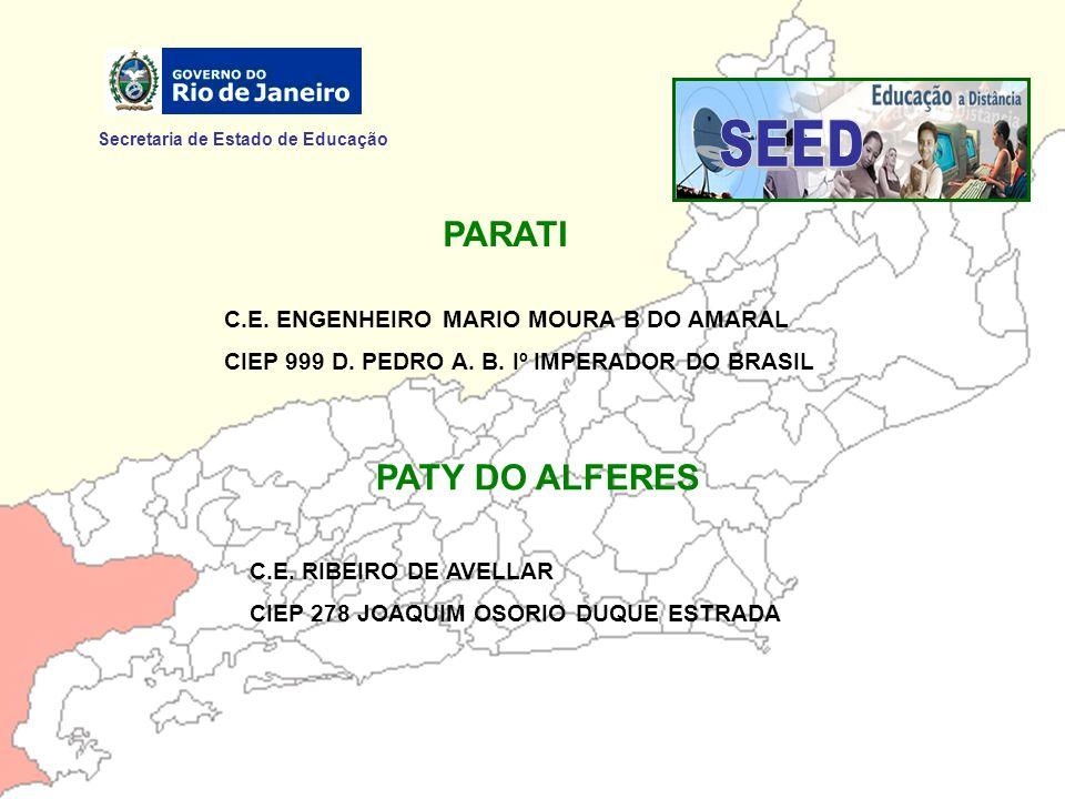 SEED PARATI PATY DO ALFERES Secretaria de Estado de Educação
