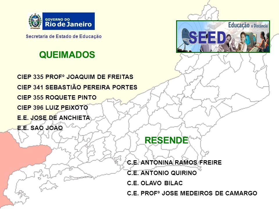 SEED QUEIMADOS RESENDE Secretaria de Estado de Educação