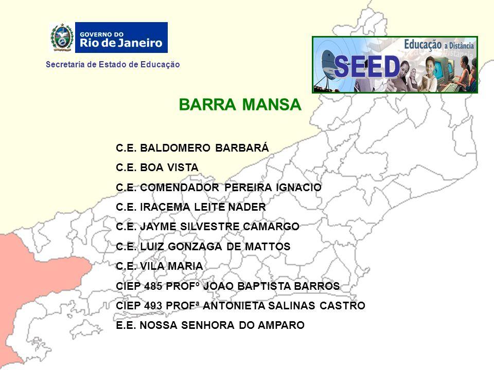 SEED BARRA MANSA Secretaria de Estado de Educação