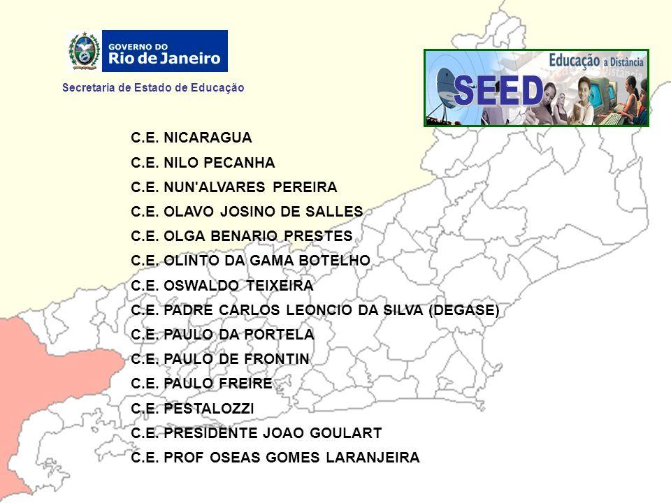 SEED Secretaria de Estado de Educação C.E. NICARAGUA C.E. NILO PECANHA