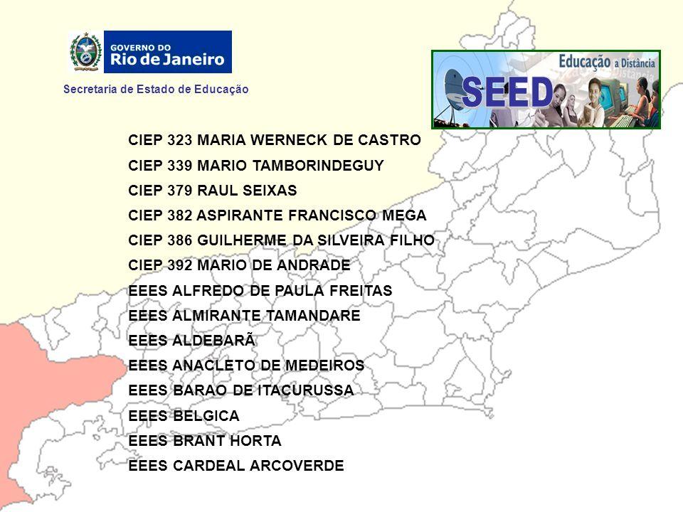 SEED Secretaria de Estado de Educação CIEP 323 MARIA WERNECK DE CASTRO
