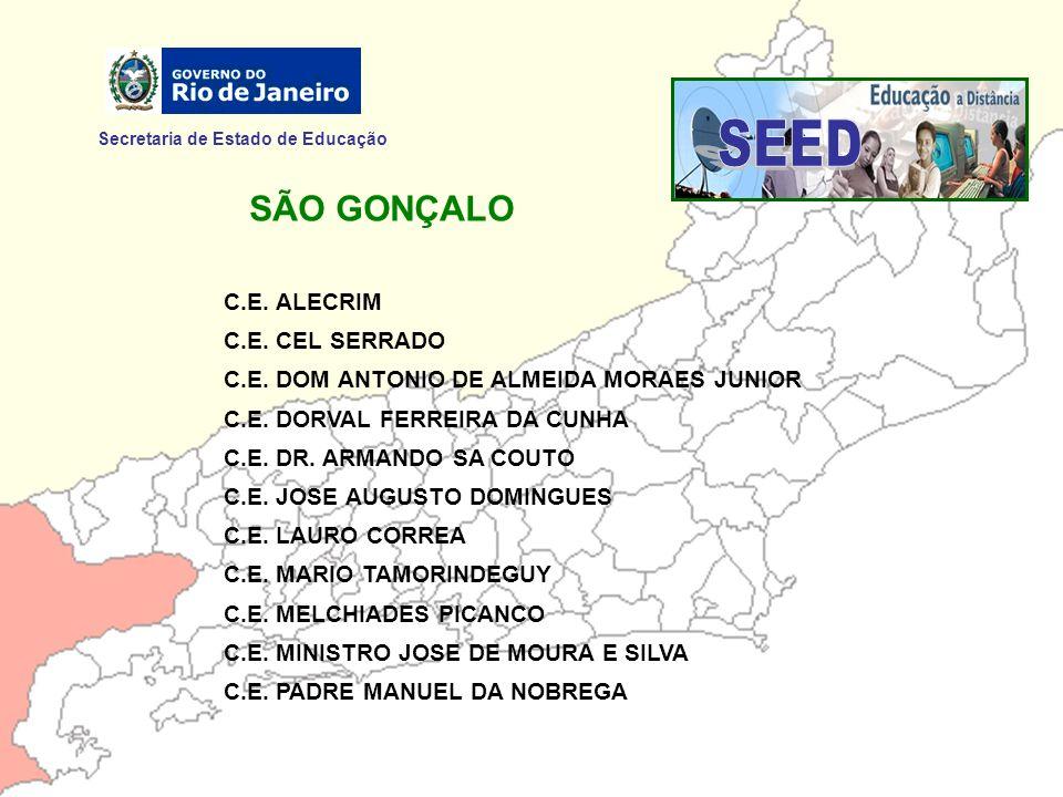 SEED SÃO GONÇALO Secretaria de Estado de Educação C.E. ALECRIM