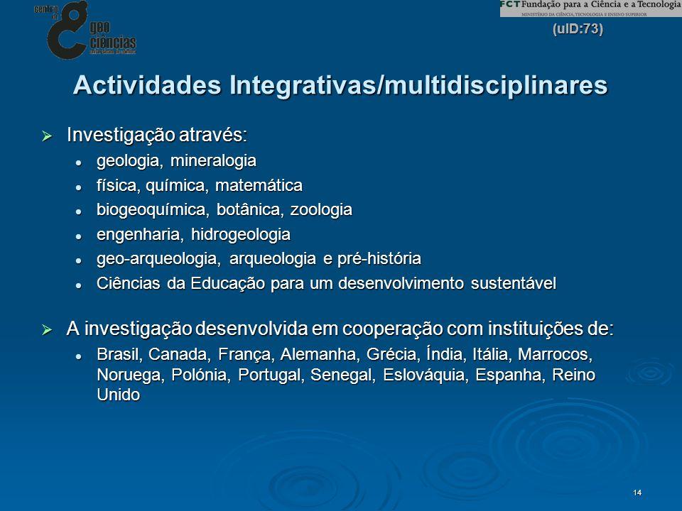 Actividades Integrativas/multidisciplinares