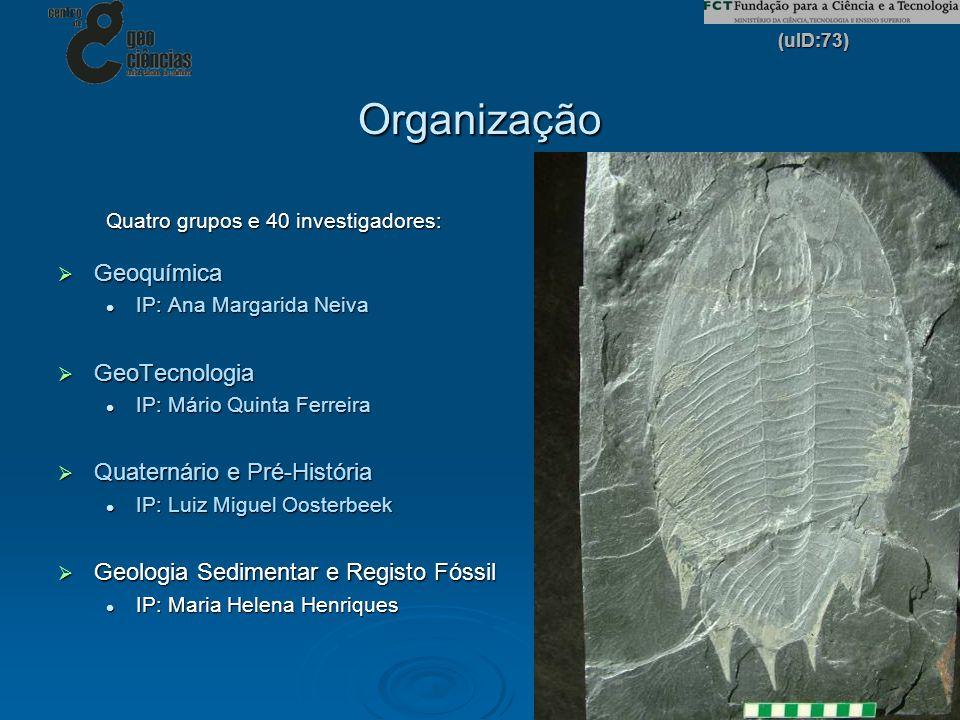 Organização Geoquímica GeoTecnologia Quaternário e Pré-História