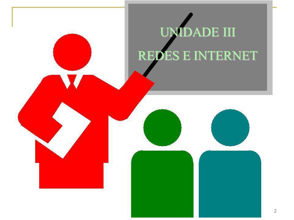 UNIDADE III REDES E INTERNET
