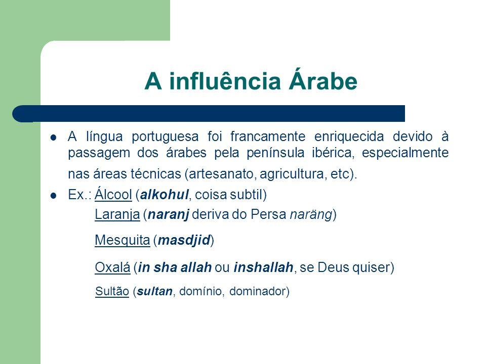 A influência Árabe