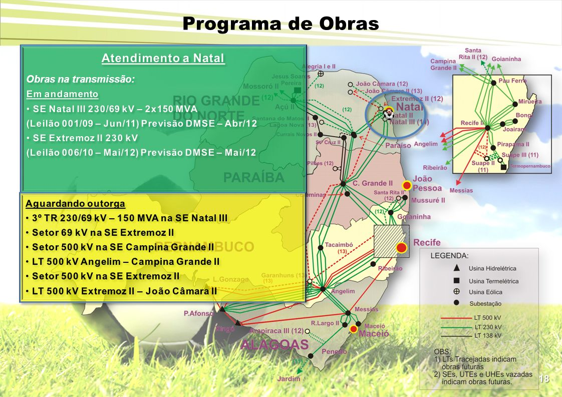 Programa de Obras Atendimento a Natal Obras na transmissão:
