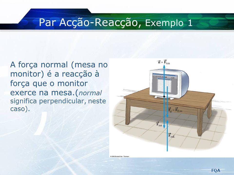 Par Acção-Reacção, Exemplo 1