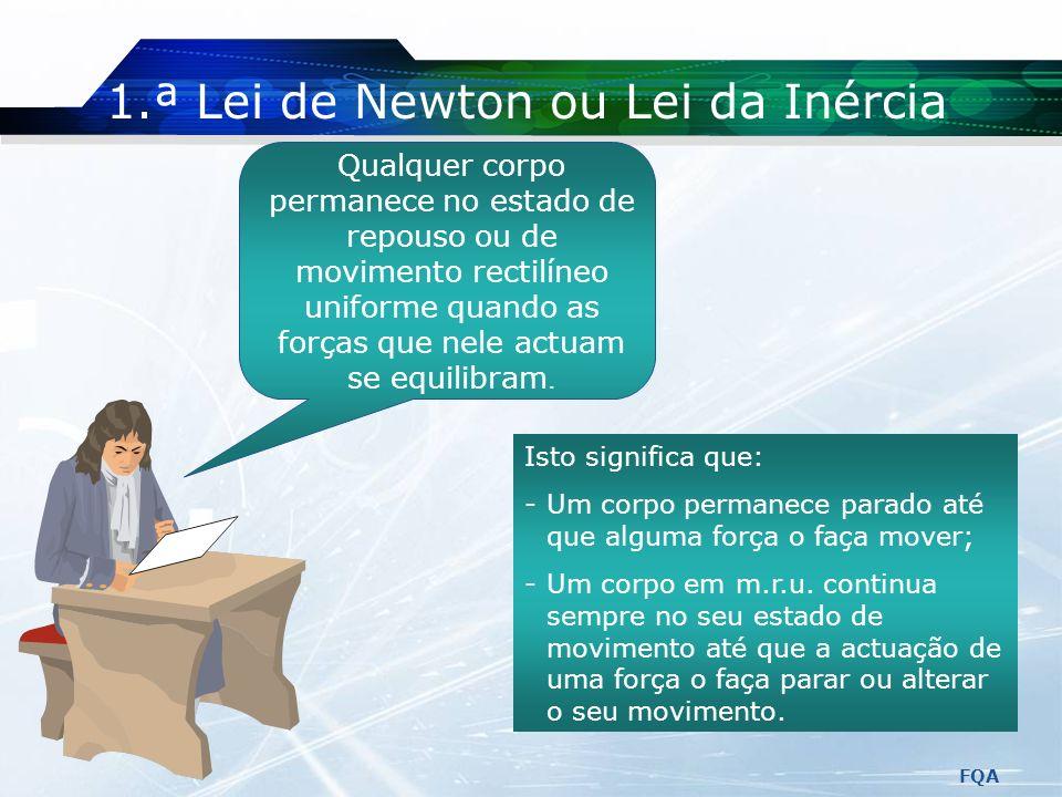 1.ª Lei de Newton ou Lei da Inércia