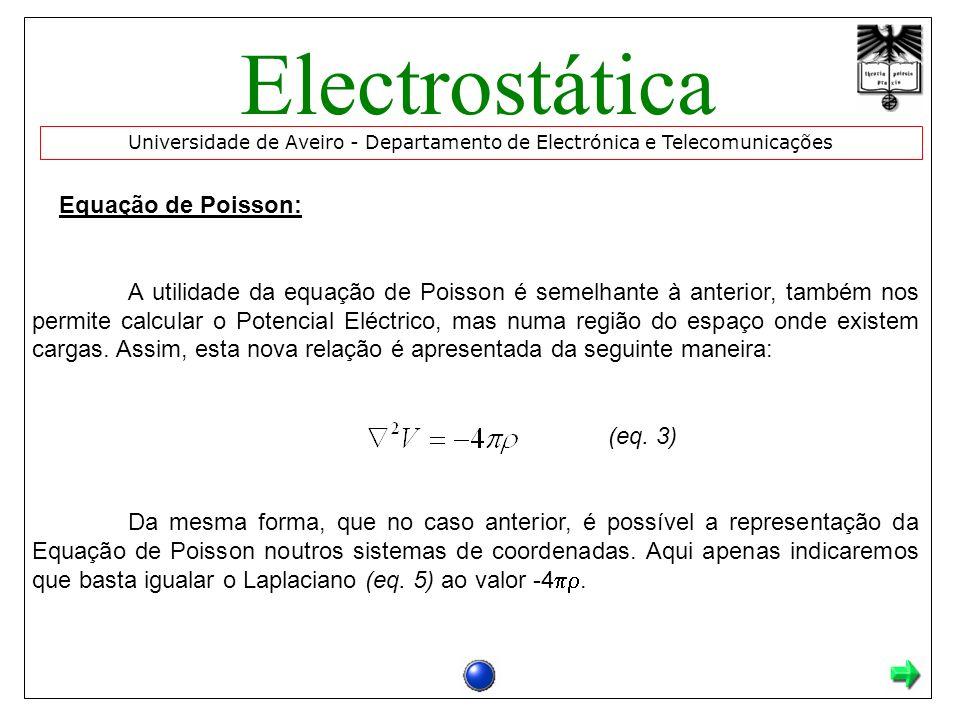 Electrostática Equação de Poisson:
