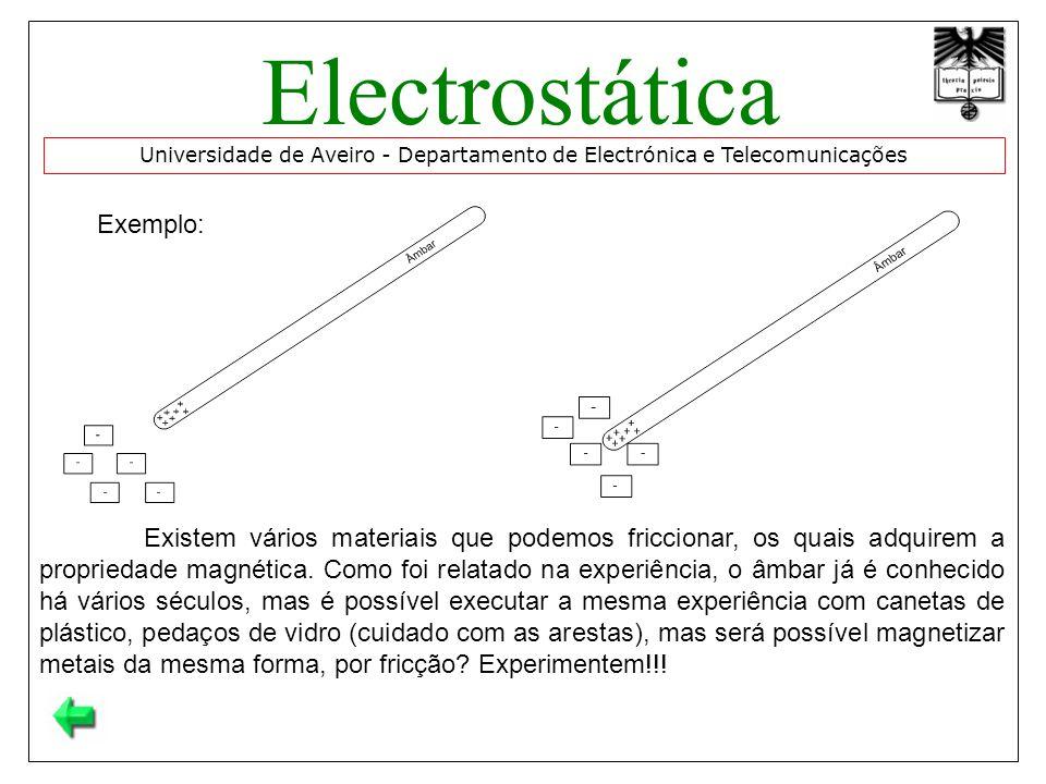 Electrostática Exemplo: