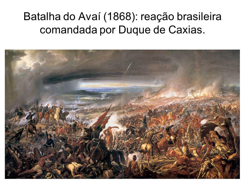 Batalha do Avaí (1868): reação brasileira comandada por Duque de Caxias.