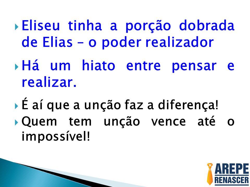 Eliseu tinha a porção dobrada de Elias – o poder realizador