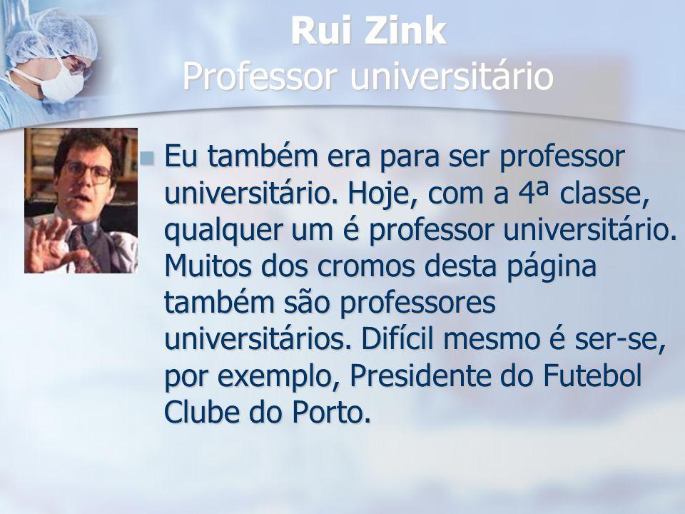 Rui Zink Professor universitário