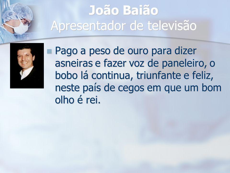 João Baião Apresentador de televisão