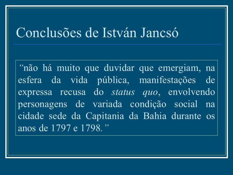 Conclusões de István Jancsó