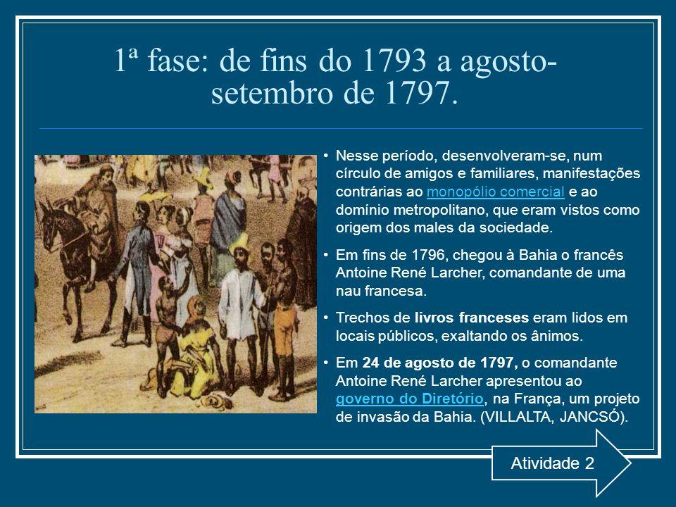 1ª fase: de fins do 1793 a agosto-setembro de 1797.