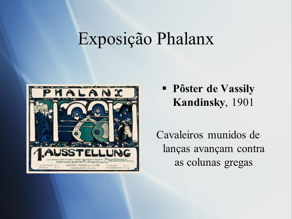 Exposição Phalanx Pôster de Vassily Kandinsky, 1901