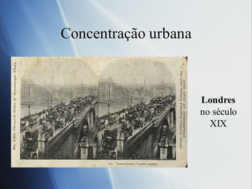 Concentração urbana Londres no século XIX
