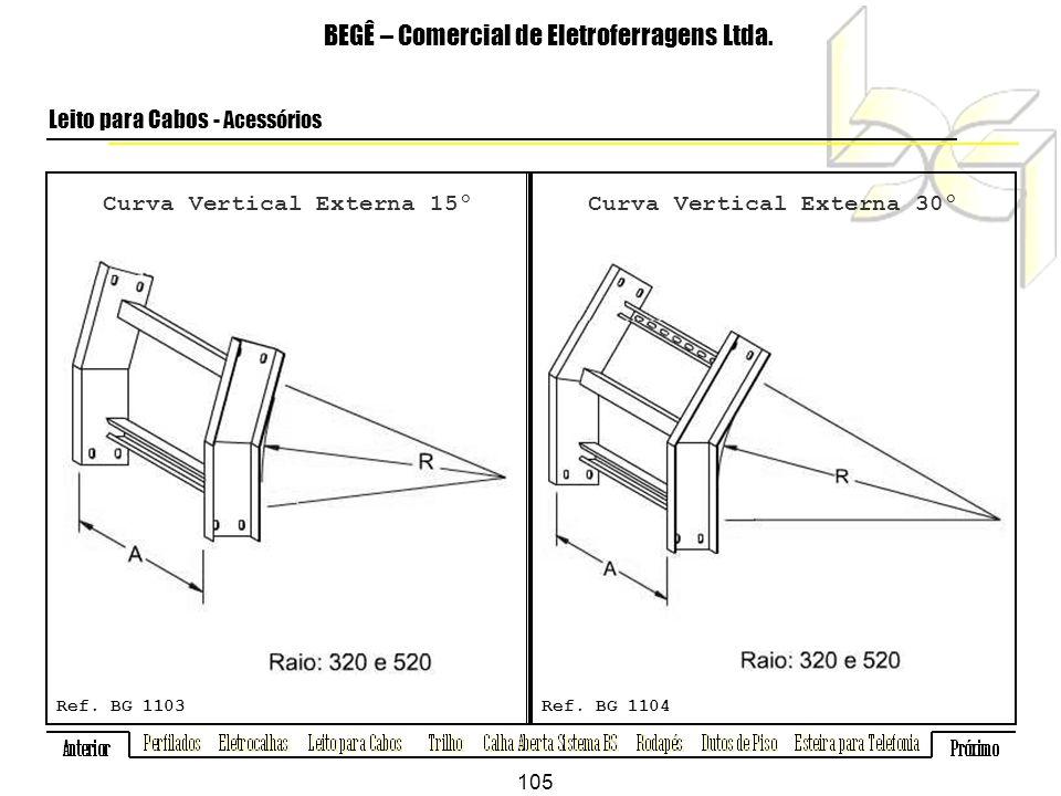 Curva Vertical Externa 15º Curva Vertical Externa 30º