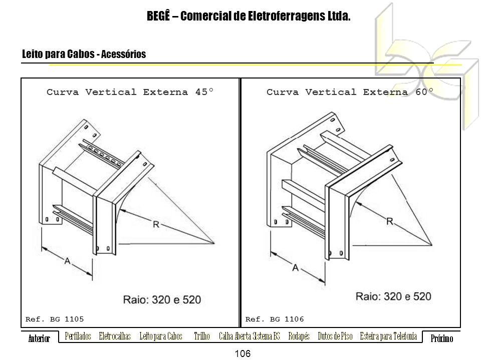 Curva Vertical Externa 45º Curva Vertical Externa 60º
