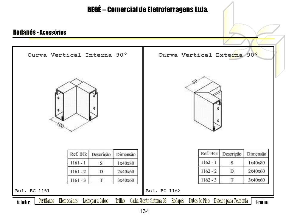 Curva Vertical Interna 90º Curva Vertical Externa 90º