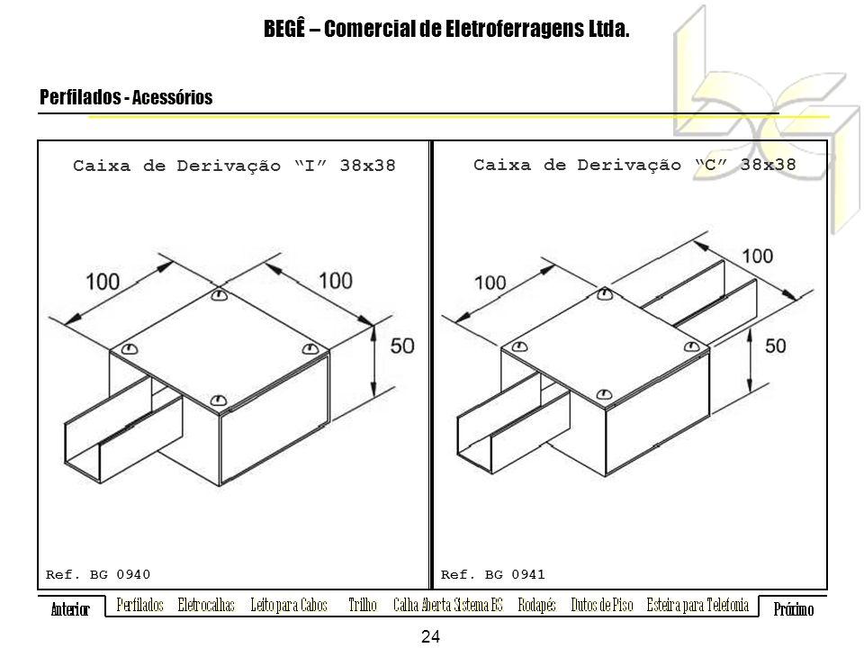 Caixa de Derivação I 38x38 Caixa de Derivação C 38x38