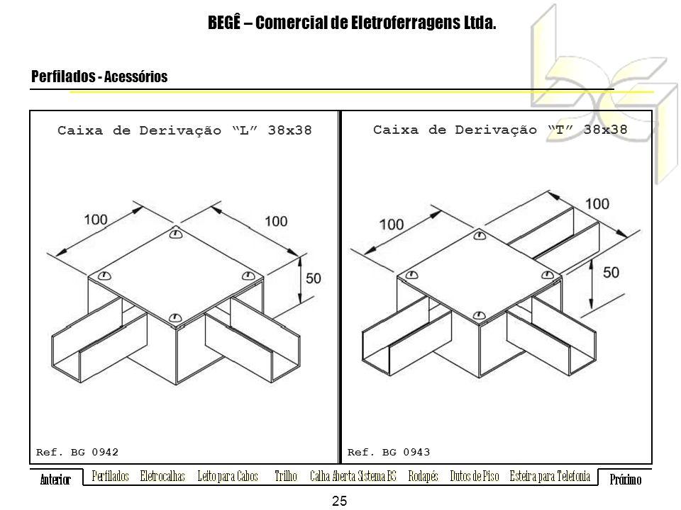 Caixa de Derivação L 38x38 Caixa de Derivação T 38x38