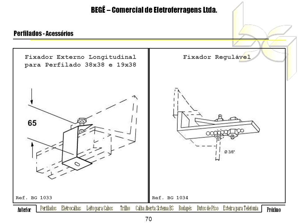 Fixador Externo Longitudinal para Perfilado 38x38 e 19x38