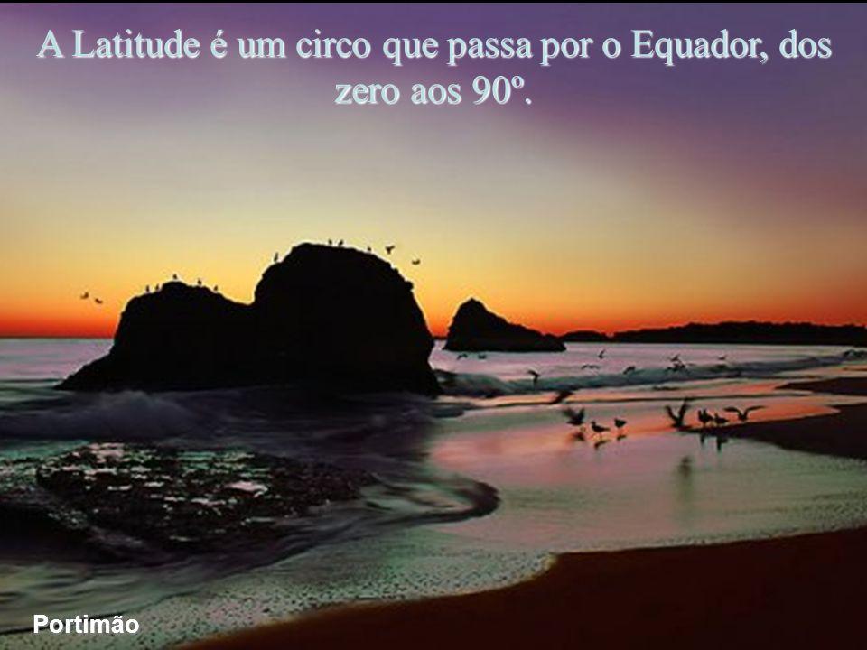 A Latitude é um circo que passa por o Equador, dos zero aos 90º.