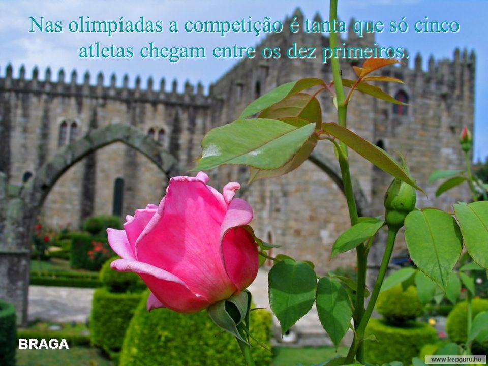 Nas olimpíadas a competição é tanta que só cinco atletas chegam entre os dez primeiros.