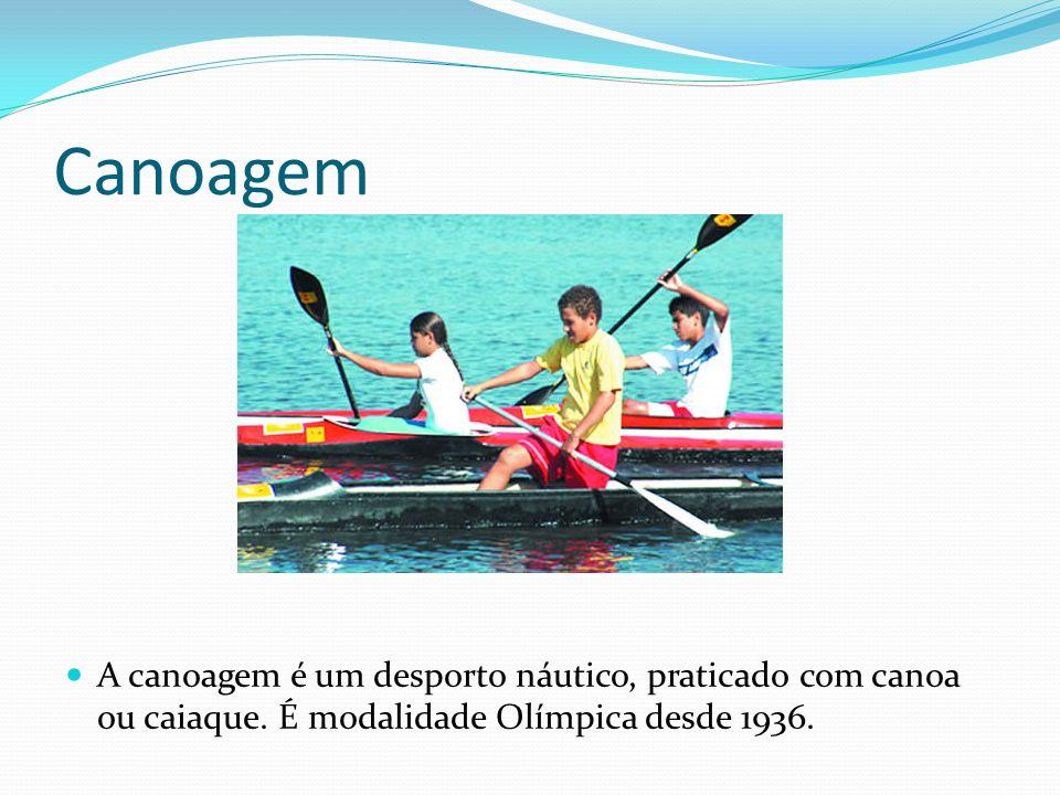 Canoagem A canoagem é um desporto náutico, praticado com canoa ou caiaque.