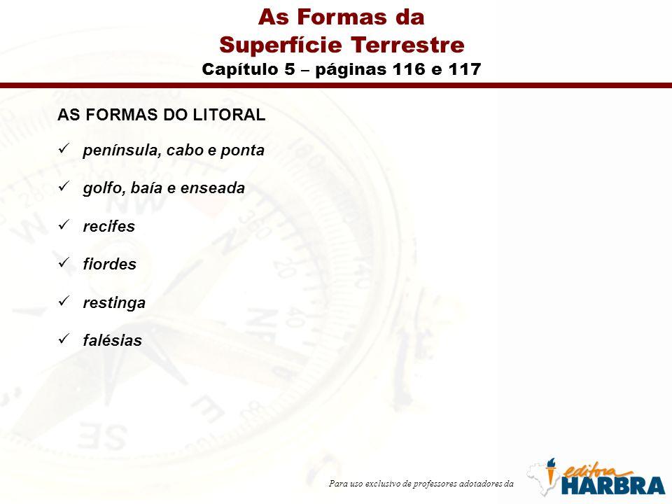 As Formas da Superfície Terrestre Capítulo 5 – páginas 116 e 117
