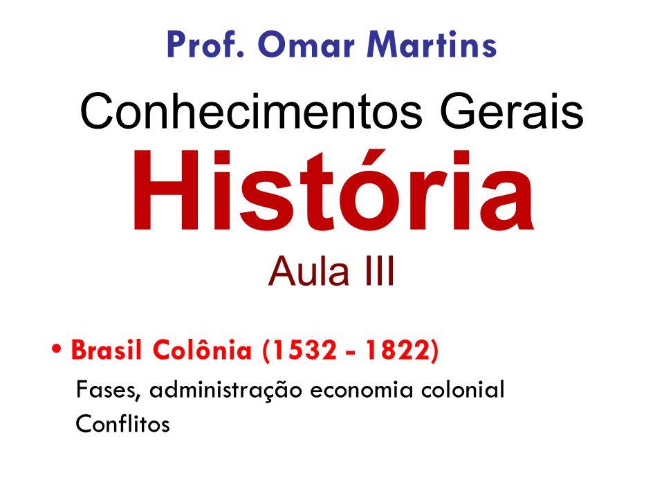 História Conhecimentos Gerais Prof. Omar Martins Aula III