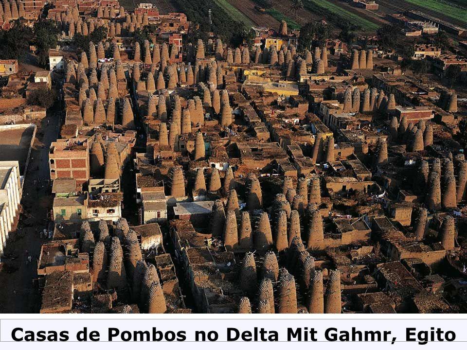Casas de Pombos no Delta Mit Gahmr, Egito