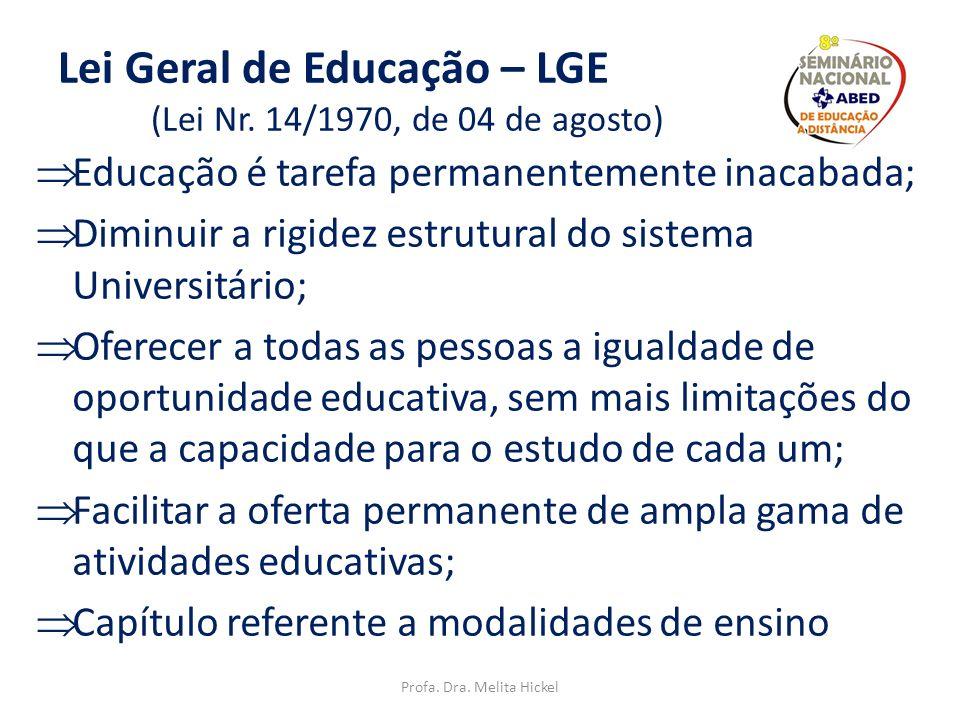 Lei Geral de Educação – LGE (Lei Nr. 14/1970, de 04 de agosto)