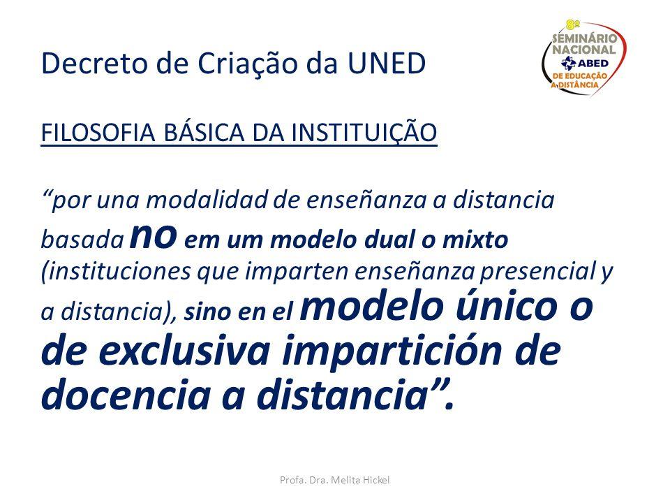 Decreto de Criação da UNED
