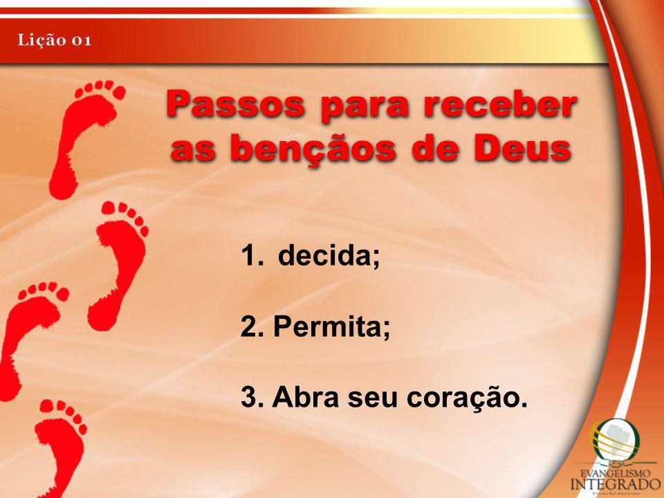 Passos para receber as bençãos de Deus