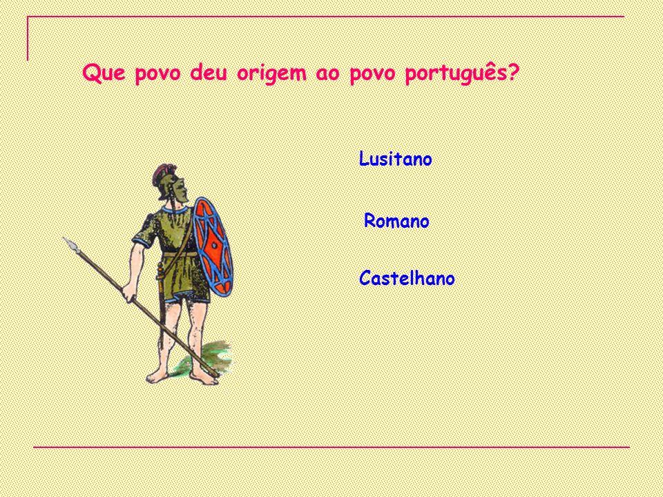 Que povo deu origem ao povo português
