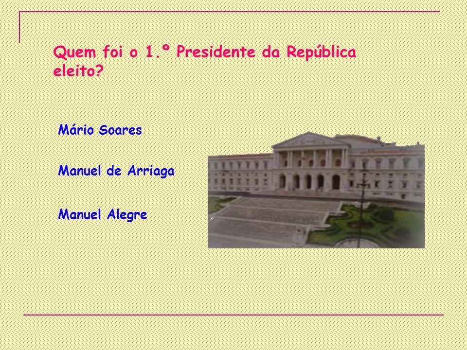 Quem foi o 1.º Presidente da República eleito