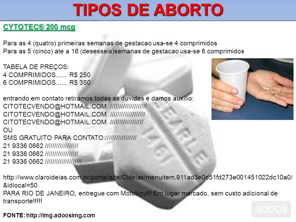 TIPOS DE ABORTO CYTOTEC® 200 mcg