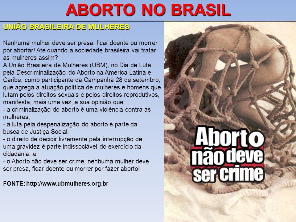 ABORTO NO BRASIL UNIÃO BRASILEIRA DE MULHERES