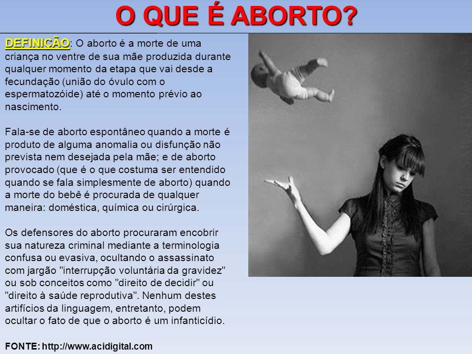 O QUE É ABORTO
