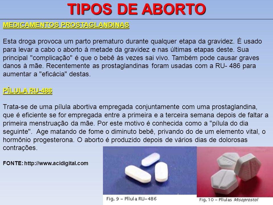 TIPOS DE ABORTO MEDICAMENTOS PROSTAGLANDINAS