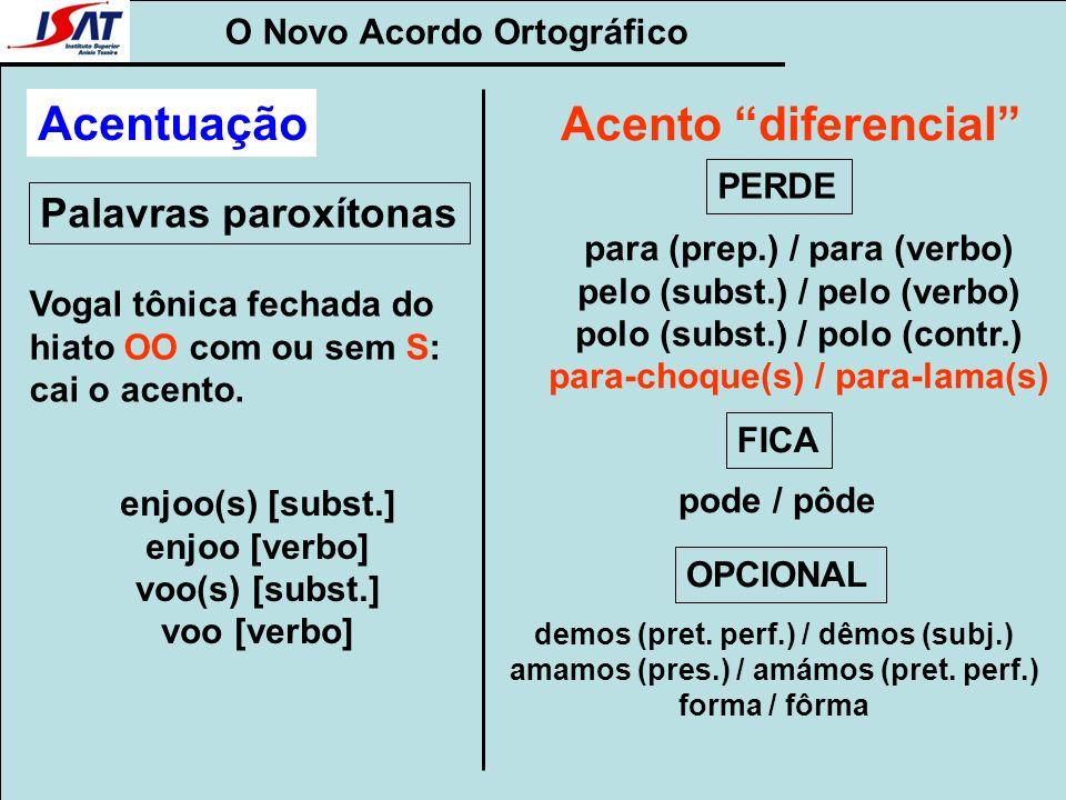 Acentuação Acento diferencial Palavras paroxítonas