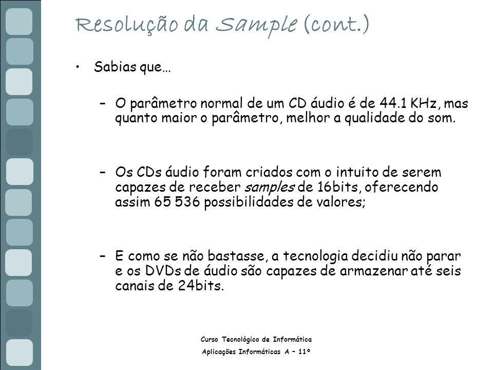Resolução da Sample (cont.)