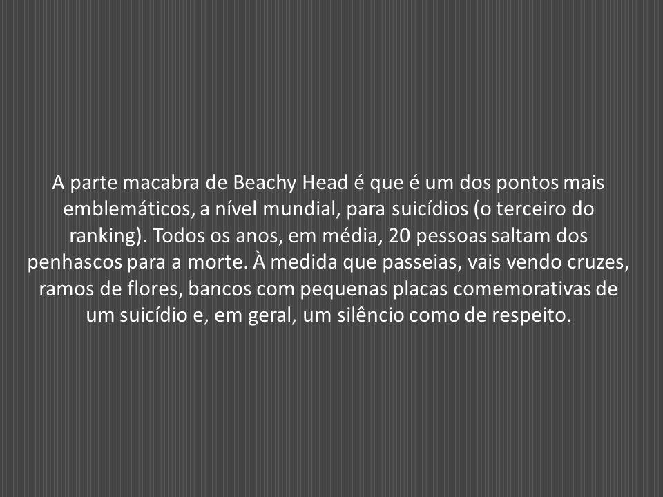 A parte macabra de Beachy Head é que é um dos pontos mais emblemáticos, a nível mundial, para suicídios (o terceiro do ranking).