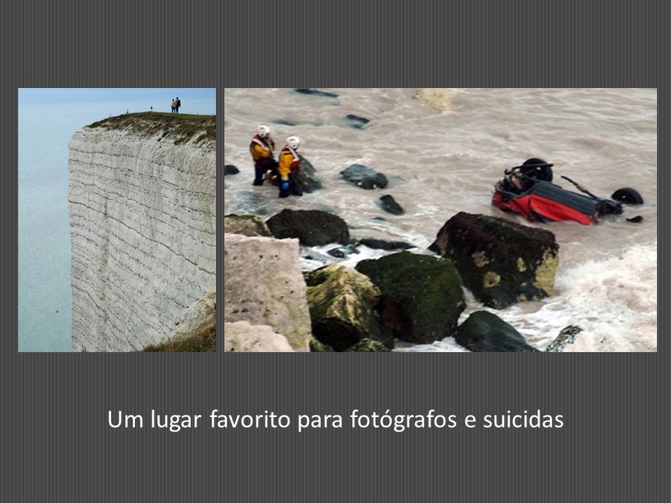 Um lugar favorito para fotógrafos e suicidas