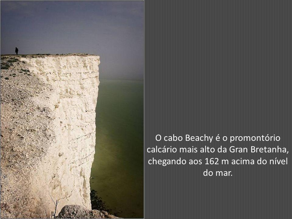 O cabo Beachy é o promontório calcário mais alto da Gran Bretanha, chegando aos 162 m acima do nível do mar.